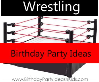 Wrestling Theme Party Ideas!  Fun birthday party ideas for a Wrestling theme - party games, activities, party food, favors and more.  #wrestling #party #ideas http://birthdaypartyideas4kids.com/wrestling-birthday-theme.htm