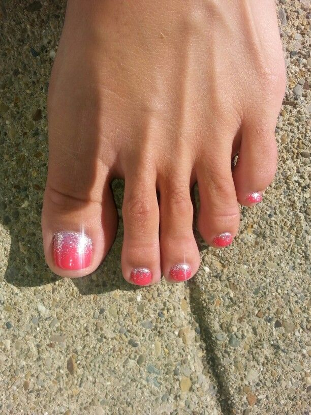 My beautiful ombre glitter pedicure by Mary at spa on the avenue!! Shes amazing!