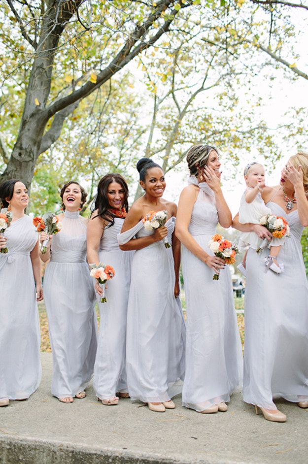 fall bridal party pictures%0A    Beautiful And Unexpected Bridesmaid Dress Colors