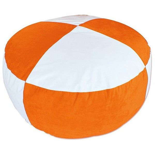 Universal Lighting and Decor Large Orange and White Bean Bag Chair ($199) ❤ liked on Polyvore featuring home, furniture, chairs, orange, seating, orange bean bag chair, bean bag, white furniture, orange chair and orange bean bag