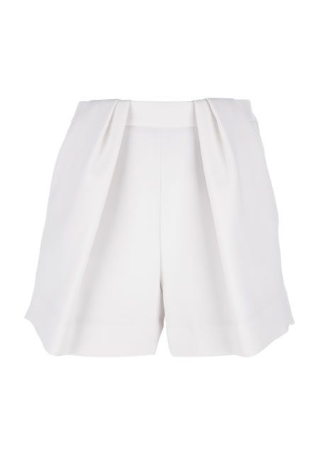CHLOE Pleated shorts €458.55 #CHLOE #SHORTS #WOOL