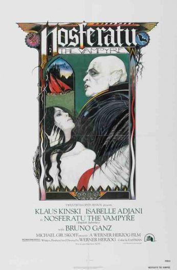 Filme: Nosferatu - The Vampire (Nosferatu - O Vampiro da Noite, 1979). Direção: Werner Herzog. Elenco: Klaus Kinsk, Isabelle Adjani e Bruno Ganz.