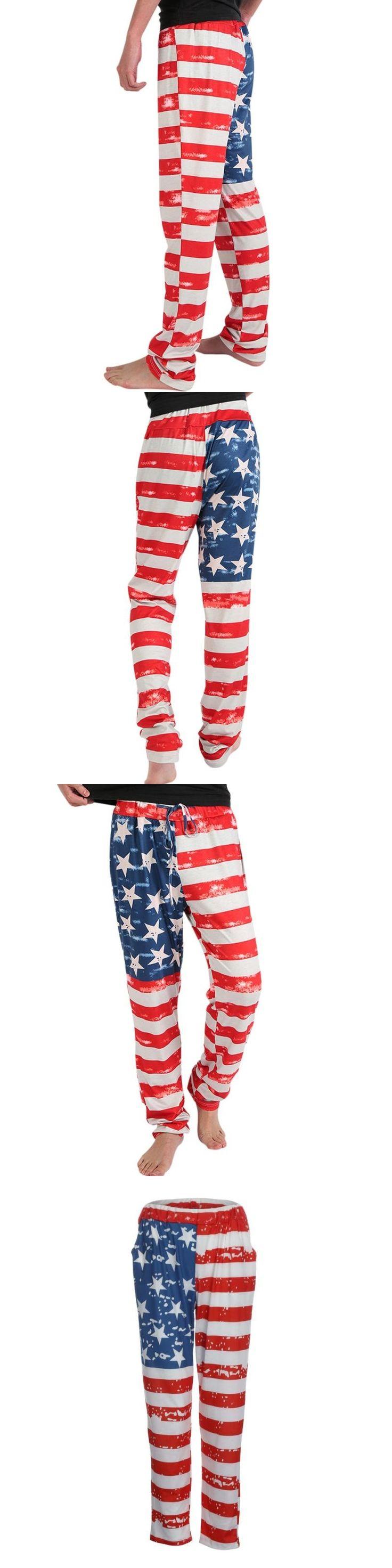 Spring and Autumn models Casual Men American Flag Printed Drawstring Pants Fashion Leggings Hot Sale Pantalon Harlan #AA