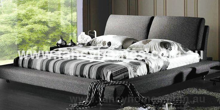 Grace - Designer Fabric King Size/Queen Size Bed Frame