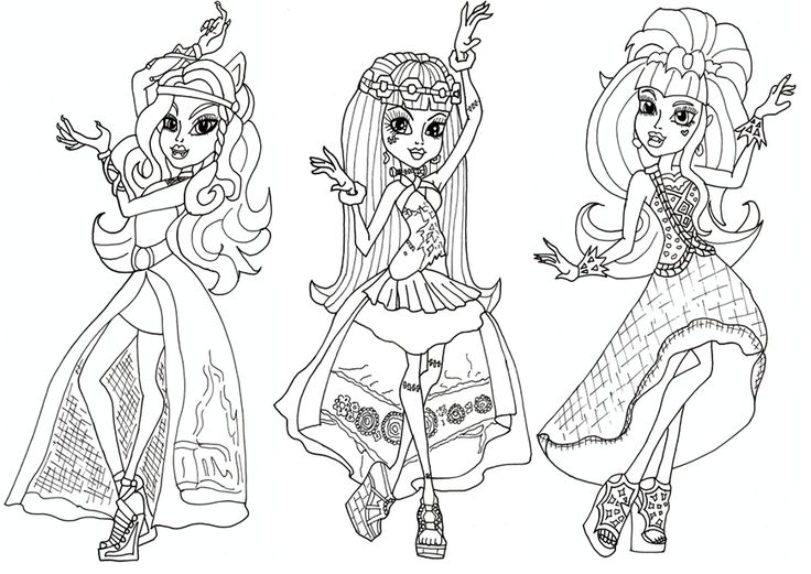 Free monster high pirintibls free printable monster high coloring pages free 13 wishes haunt