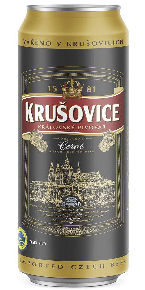 Krušovice Černé 3,8 % on tumma lager, joka on maulataan pehmeän ja makean paahteinen, karamellinen ja kevyesti katkeroinen. Maussa on lisäksi kaakaota, tummia hedelmiä ja ripaus mausteisuutta. Tuoksultaan Černé on paahteinen, karamellinen ja kypsän hedelmäinen. Olut on väriltään lähes musta.