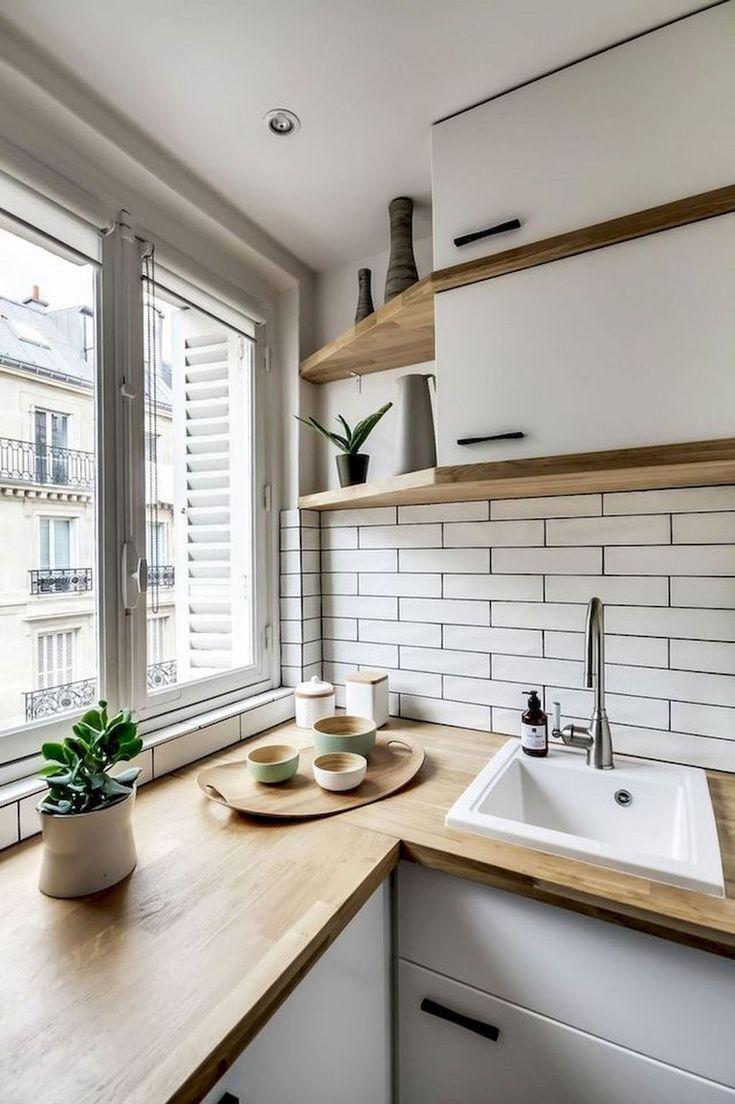 70 gute Staylish schwarz weiß Holz Küche Ideen, gute