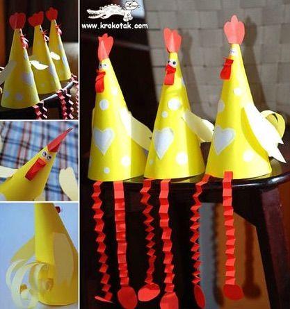 chicken easter bonnet