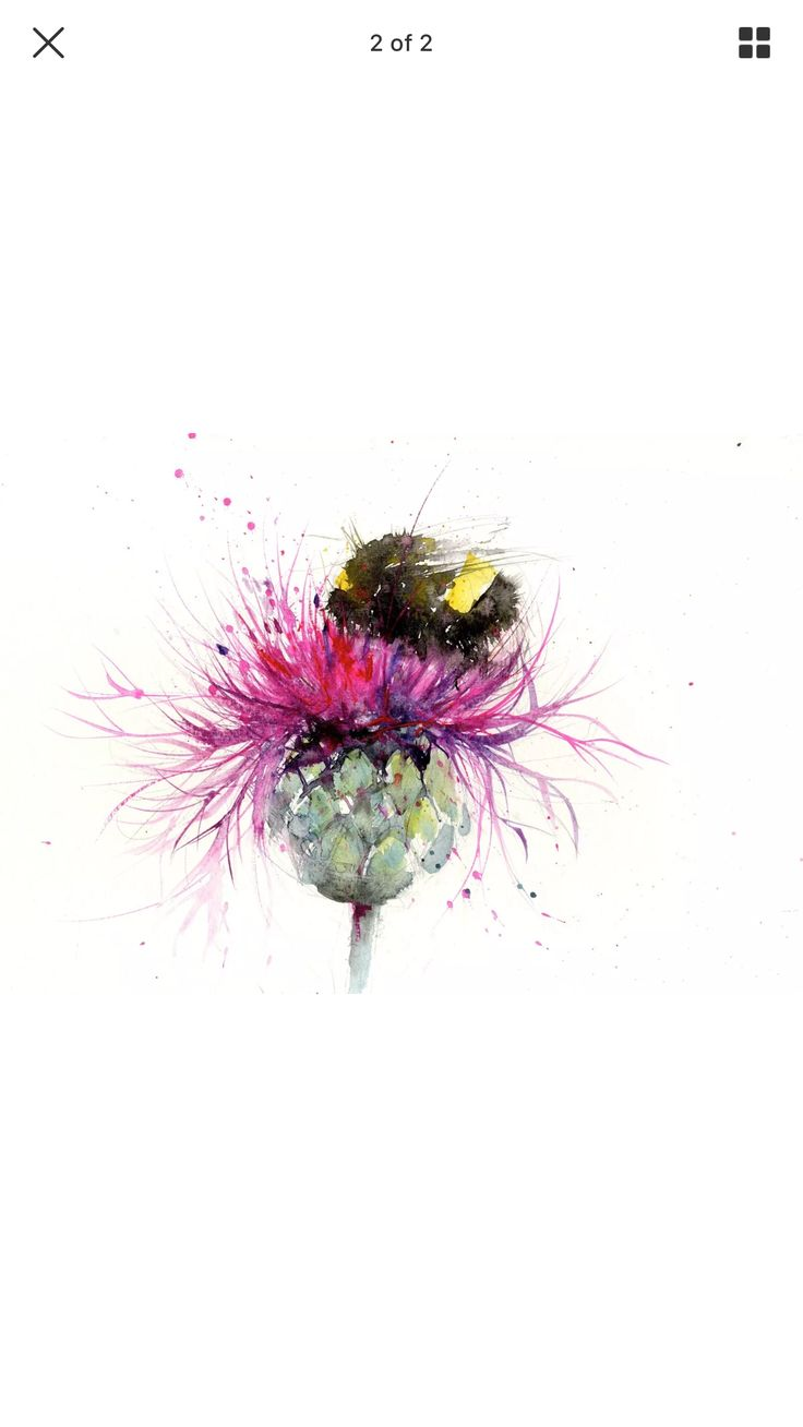 best 20 bumble bee tattoo ideas on pinterest bee tattoo honey bee on a thistle watercolour