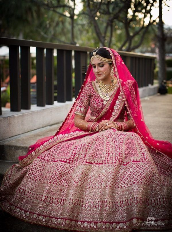 50 Of The Most Beautiful Bridal Lehengas We Spotted On Real Brides Indian Bridal Outfits Stylish Party Dresses Indian Bridal Wear