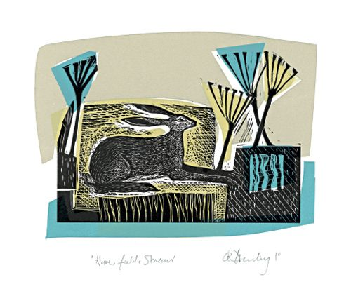 Hare, Field and Stream - Angela Harding