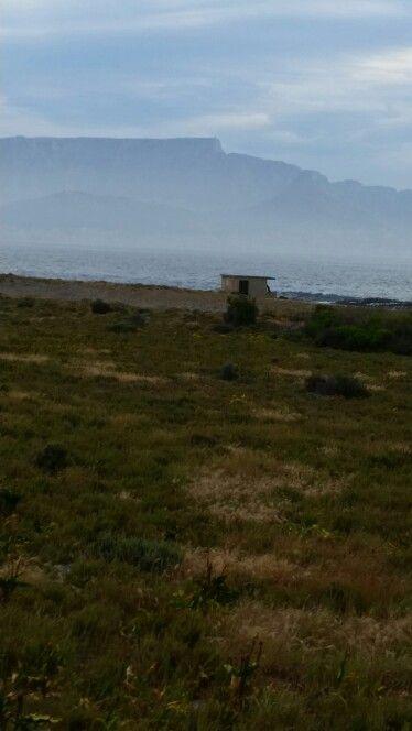 Table Mountain Cape Town, SA as seen from Robben Island prison
