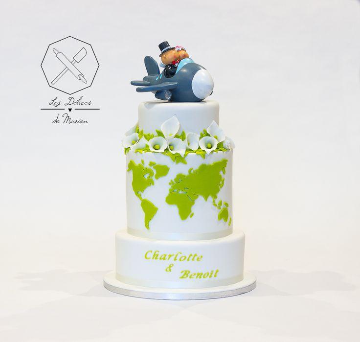 Wedding Cake design. Gâteau de mariage personnalisé en pâte à ...