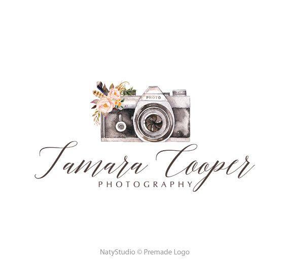 Camera logo watercolor logo graphic design premade by NatyStudio