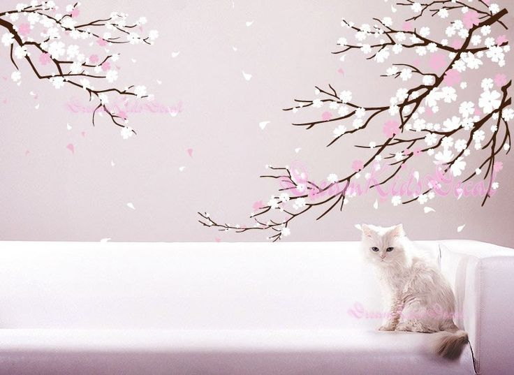 cherry blossoms wall decal wall sticker tree decalsdk006 via etsy