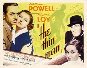 L'uomo ombra - Film USA del 1934 di W.S. Van Dyke con William Powell, Myrna Loy. I film successivi sono Dopo l'uomo ombra (After the Thin Man, 1936), Si riparla dell'uomo ombra (Another Thin Man, 1939), L'ombra dell'uomo ombra (Shadow of the Thin Man, 1941), diretti ancora da Van Dyke, L'uomo ombra torna a casa (The Thin Man Goes Home, 1945) di Richard Thorpe, e Il canto dell'uomo ombra (Song of the Thin Man, 1947) per la regia di Edward Buzzell