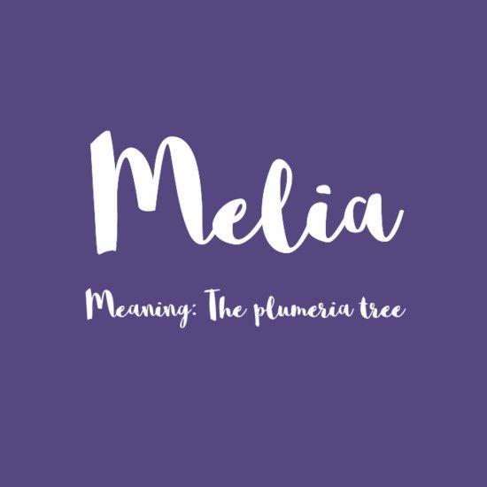 Melia - Simply Adorable Hawaiian Baby Names for Girls - Photos