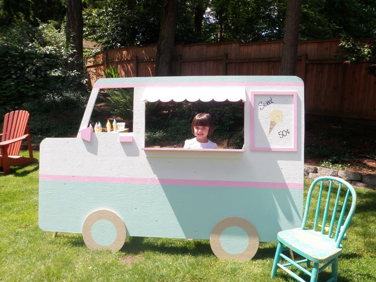June's Ice Cream Social DIY Vintage Style Children's Ice Cream Truck