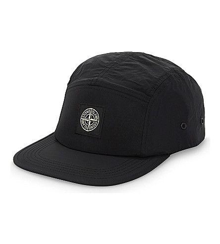 STONE ISLAND Brand Logo Five-Panel Nylon Baseball Cap. #stoneisland #hats