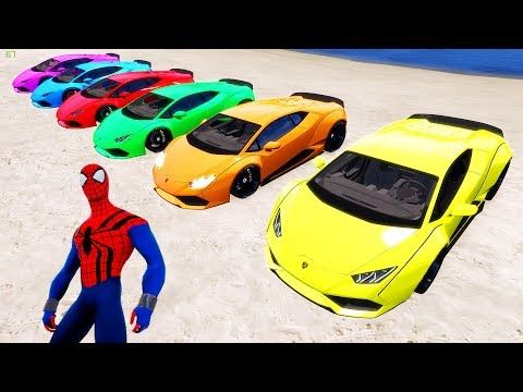 Learn Colors for Children with Spiderman & Small Cars - Colours for Kids to Learn - YouTube