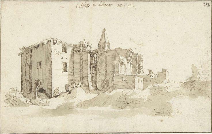 Ruïne van huis Brederode, Hendrick Goltzius, 1600
