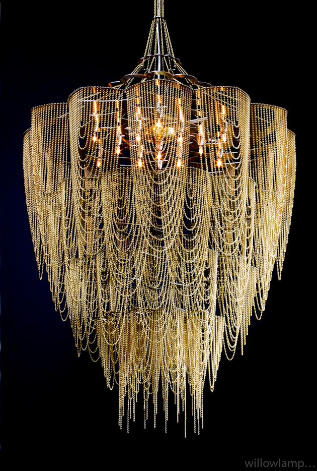 Gorgeous Willowlamp chandeliers for those tall ceilings