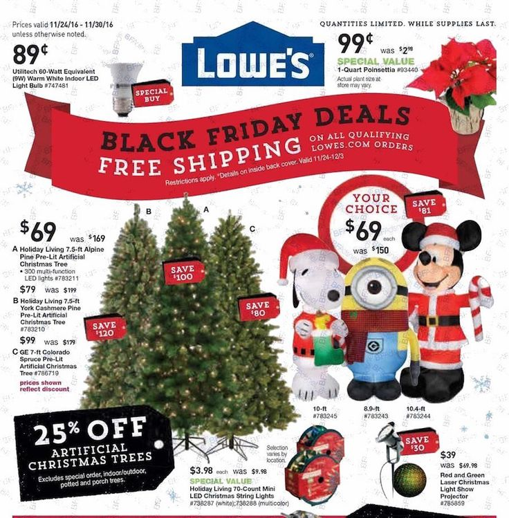 The 2016 Lowes Black Friday Ad Is Out GO HERE To See Full Scan All Of Available Ads