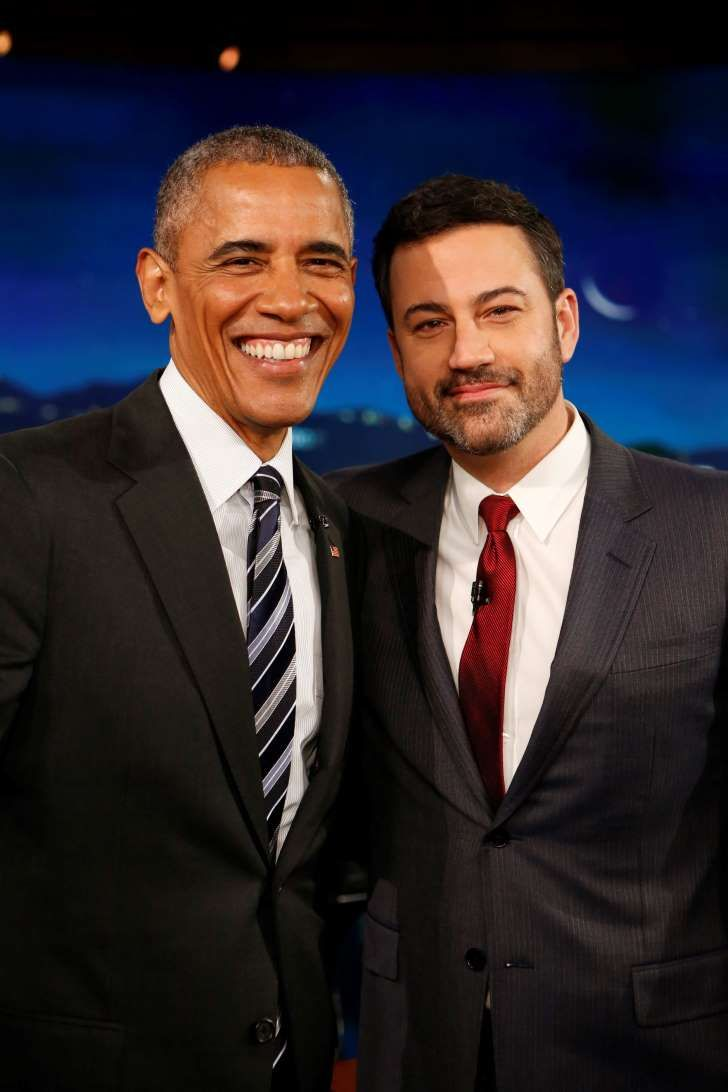 Obama Tweets Jimmy Kimmel After Host's Tearful Obamacare Plea - Obama and Jimmy Kimmel in 2016