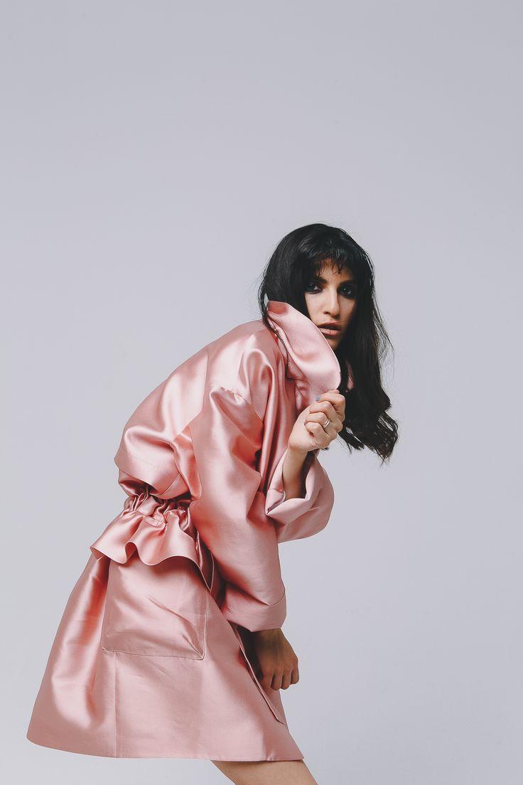 MIRO Silk Parka Pink