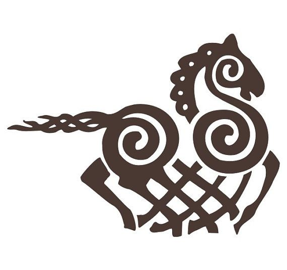 Viking Odin Sleipnir brown vinyl decal.For more Viking facts please follow and check out www.vikingfacts.com don't forget to support and follow the original Pinner/creator. Thx
