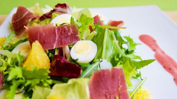 Салат с хамоном и рукколой | Рецепты: Wafli.net