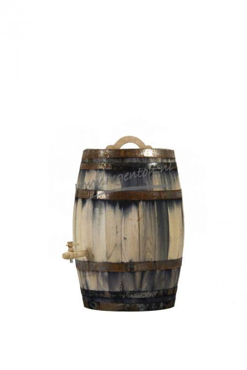 Regenton 150 liter oud met kraan en handvat - Webshop - Regenton.nl