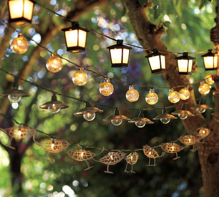 Ideen für Außenleuchten   Romantische Laternen als Tischdeko
