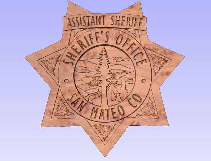 San Mateo County Sheriff's, California, Law Enforcement, Gift, Retirement, Promotion, Anniversary, Blue Line, Badge, Plaque by SheepdogCarvings on Etsy