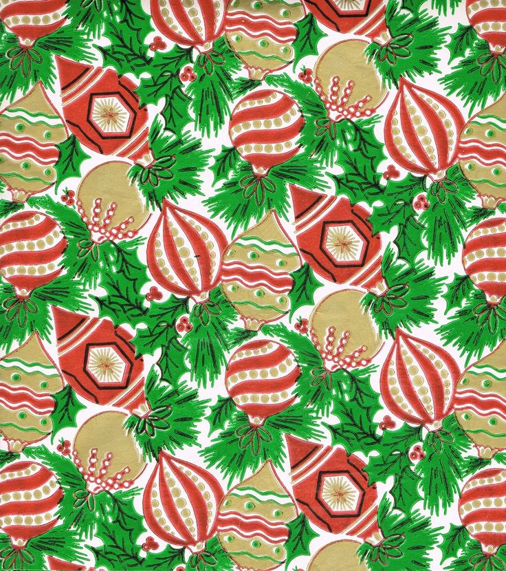 Vintage christmas wrapping paper for Best christmas wrapping paper