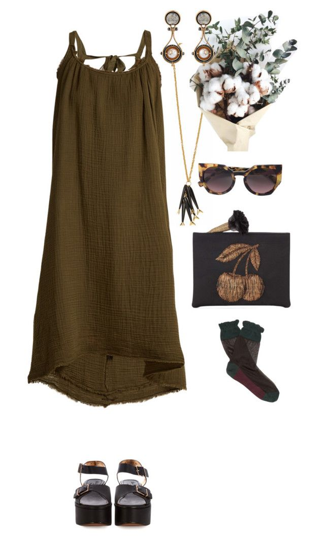"""""""Summer essentials"""" by statuslusso ❤ liked on Polyvore featuring Velvet by Graham & Spencer, Marni, Fendi, Robert Clergerie, Sanayi 313 and Summer"""