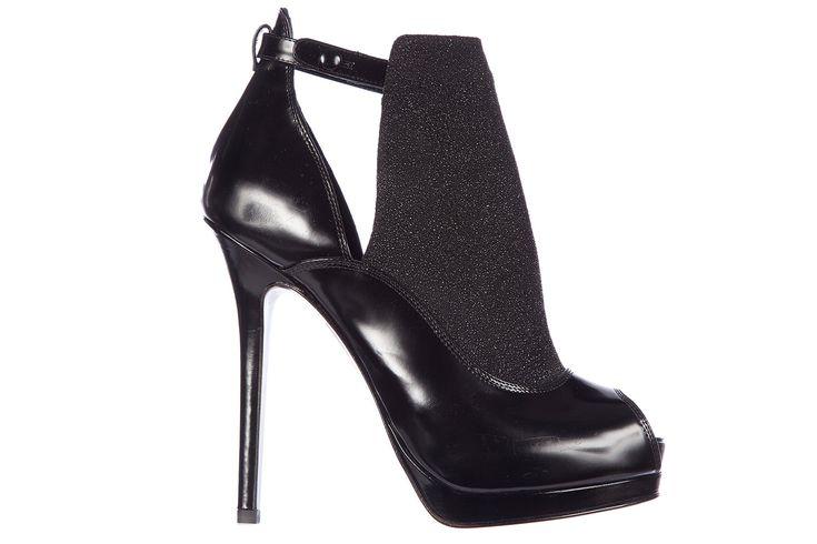 FENDI WOMEN'S LEATHER ANKLE BOOTS BOOTIES SPAZZOLATO CROSTA. #fendi #shoes #