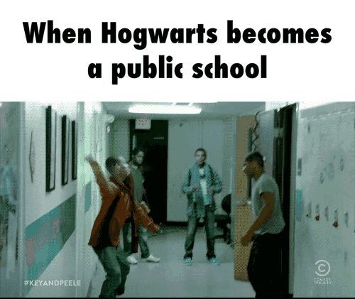 When Hogwarts becomes a public School. - GIF on Imgur