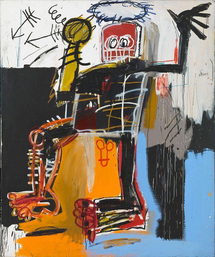 basquiat paintings | Untitled Black Angel - Jean Michel Basquiat Paintings