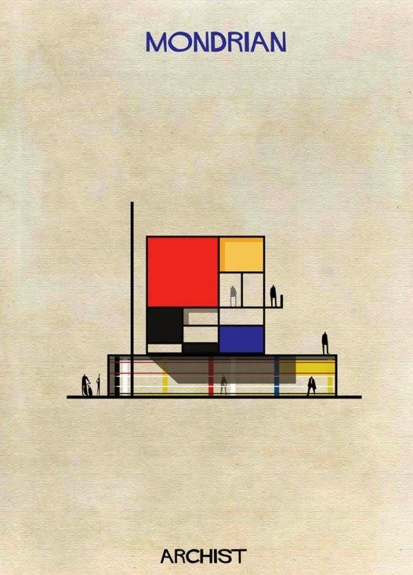 Architecture / A quoi ressemblerait une maison créee par Dali, Mondrian ...?