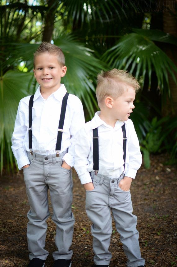 With the sleeves rolled up and some Chuck Taylor's i think this would be perfect for Scotties ring bearer outfit.