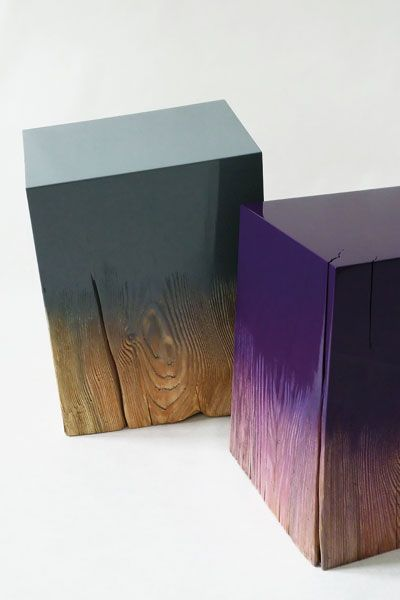by Judith Seng Trift explores the ideal of perfect, high-gloss surfaces by creating and destroying them within the same object. Each form and surface derives from the individual size, characteristics and gradual transformations over time of the underlying tree-log.