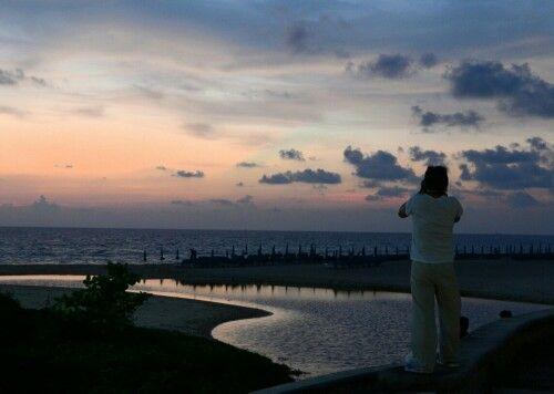 Sunset at Karon Beach, Phuket. Photographic moment