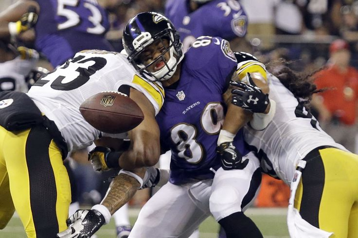 Steve Smith gets squished between Mike Mitchell and Troy. 09/2014