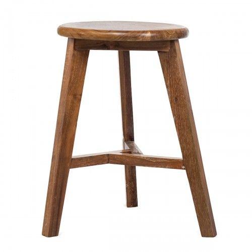 Tidung   bangku kayu jati desain skandinavia dekorasi rumah cafe hotel stool teak wood interior design furniture