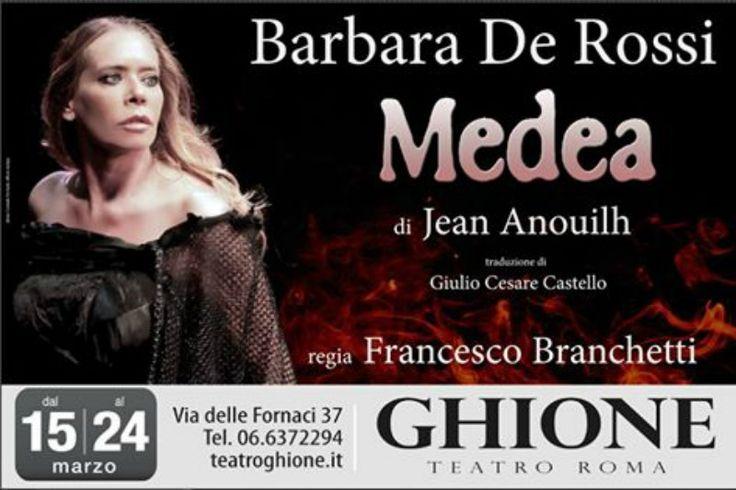 Al Teatro Ghione Barbara De Rossi è la Medea dei nostri giorni e dei tempi antichi. Incarna con grande talento la drammatica, passionale figura mitologica