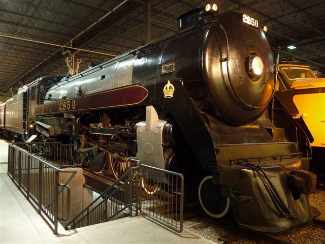"""Locomotive CPR 2850 """"Royal Hudson"""" #exporail #trains #musée #museum"""