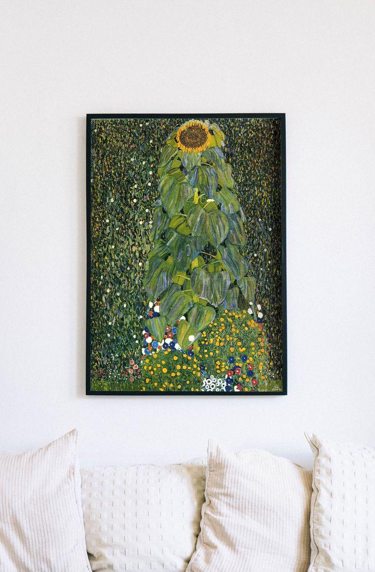 Gustav Klimt The Sunflower Famous Canvas Print Classic Painting Classic Reproduction Vintage Wall Decor Wall Decor Artsy Gift Classic Paintings Painting Klimt Art