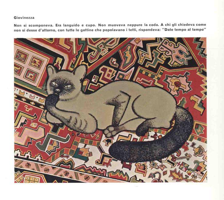 """Giovinezza, da """"Dino Buzzati Pittore"""", Alfieri, 1967."""
