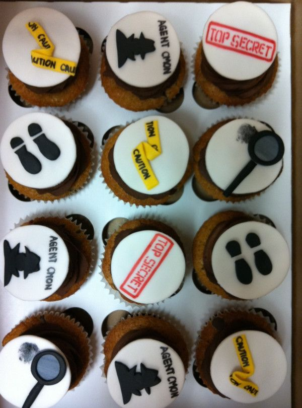 """Spy kids"" birthday party cupcakes!"